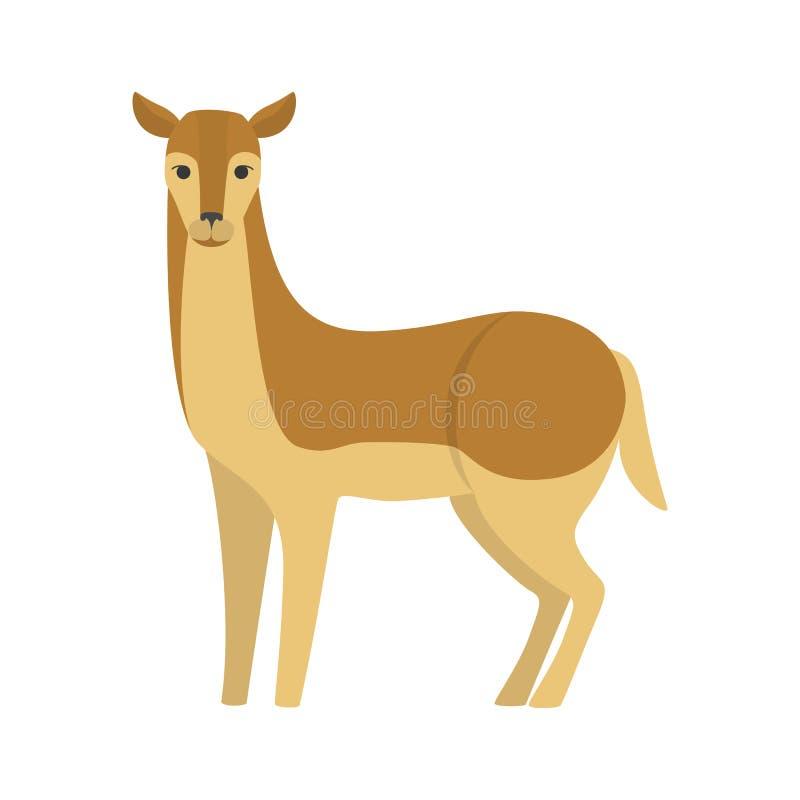 Lös djurhona för gullig doe Brun päls vektor illustrationer