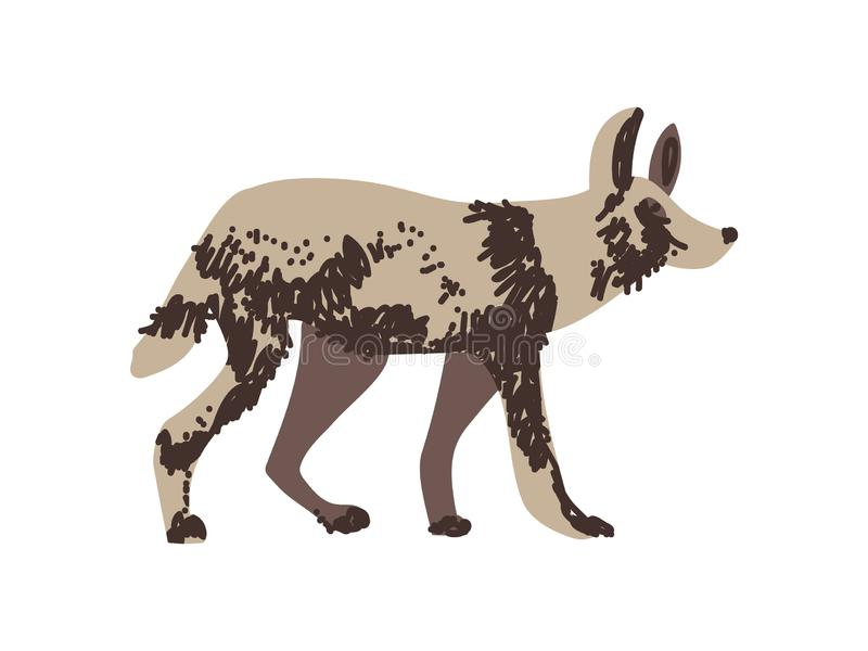 Lös exotisk afrikansk djur vektorillustration för hyena royaltyfri illustrationer
