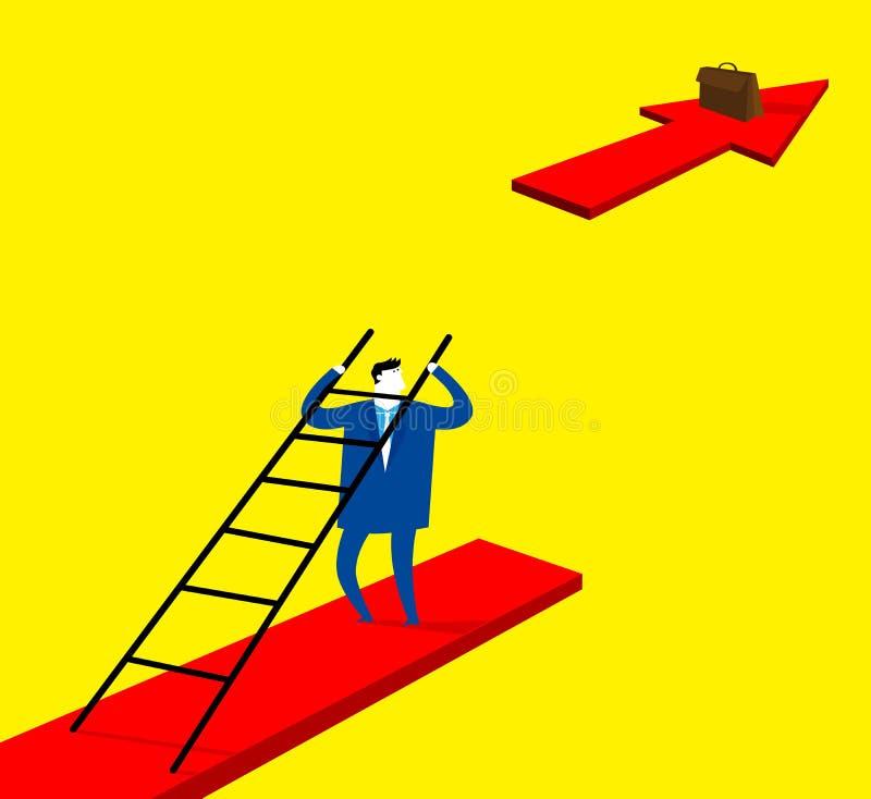 Lös problemet och håll att gå framåtriktat vektor illustrationer
