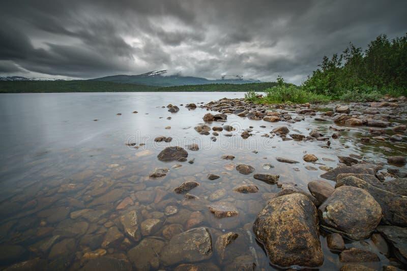 Lös sjö i Norge royaltyfria foton