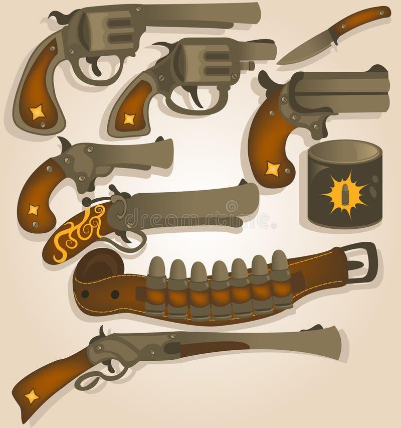 Lös västra armsamling stock illustrationer