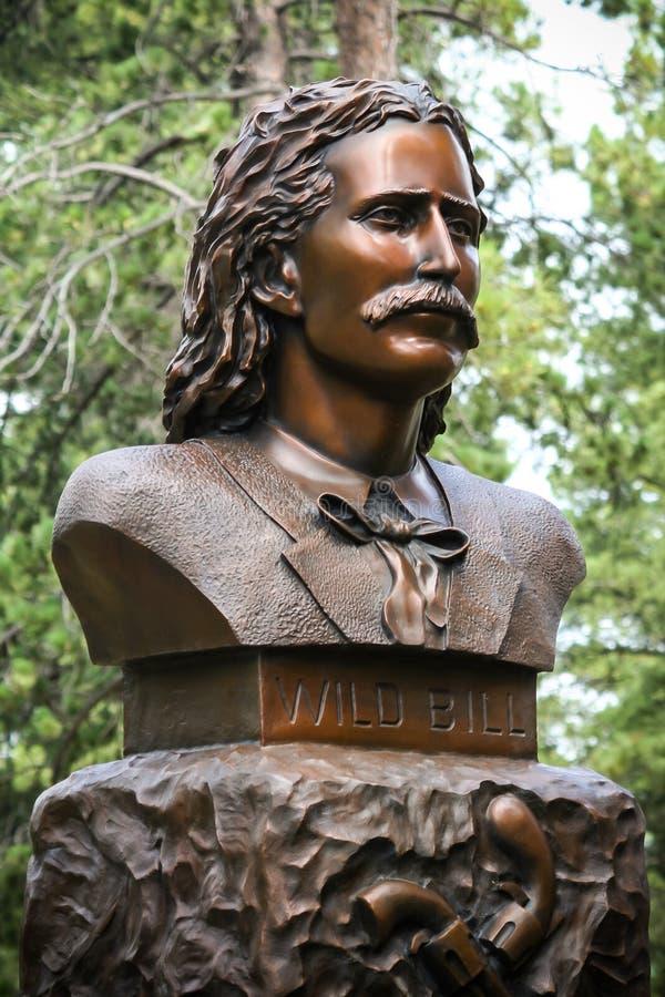 Lösa Bill Hickok Grave Monument arkivbild