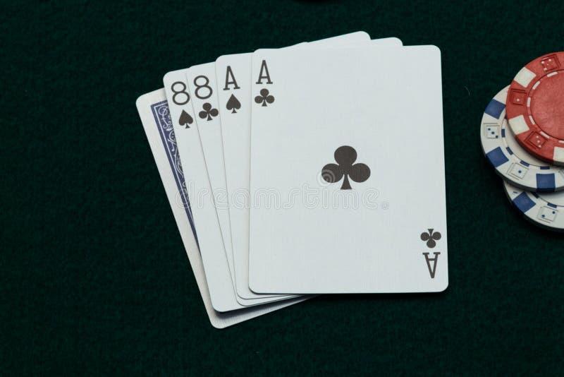 Lösa Bill Poker Dead Mans Hand royaltyfri bild