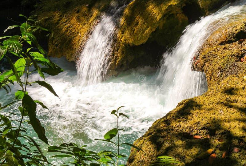 Lösa vattenfall nära den Negril stranden royaltyfria foton