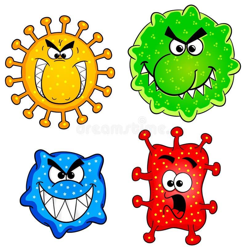 Lösa virus royaltyfri illustrationer