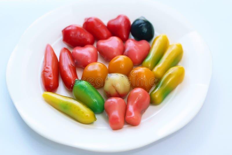 Löschbare nachgemachte Früchte stockfotografie