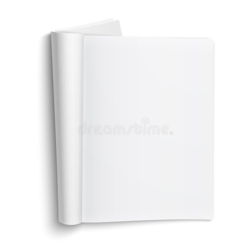 Löschen Sie offene Zeitschriftenschablone mit weichen Schatten. lizenzfreie abbildung