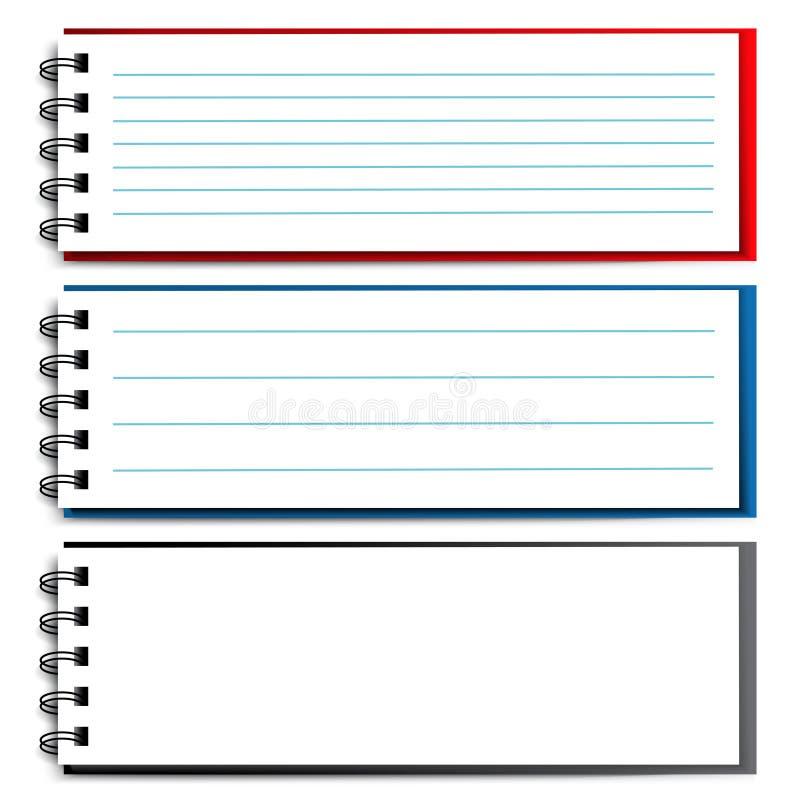 Löschen Sie offenes Notizbuch lizenzfreie abbildung