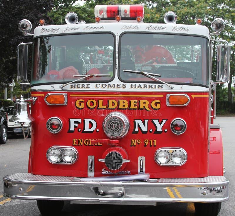 Löschfahrzeug auf Anzeige an der Mühlbecken-Autoshow gehalten in Brooklyn, New York lizenzfreies stockfoto