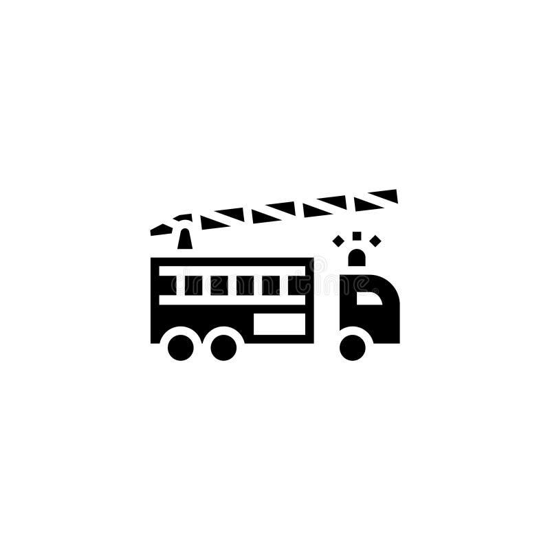 Löschfahrzeug-Ikonenkörper Fahrzeug- und Transportikonenvorrat lizenzfreie abbildung