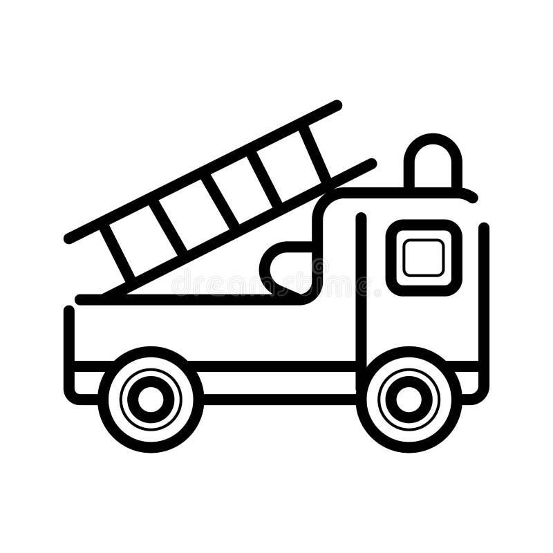 Löschfahrzeugikone stock abbildung