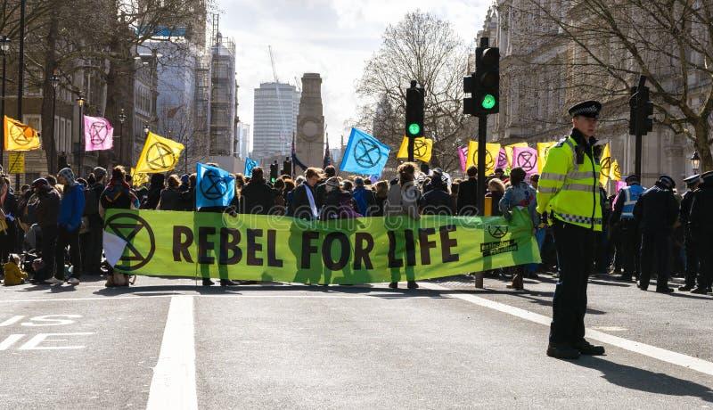 Löschungs-Aufstands-Sammlungs-Demonstration in London stockbild