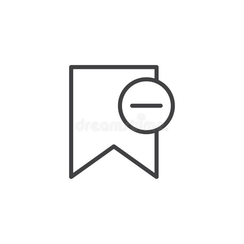 Löschungsbookmark-Entwurfsikone vektor abbildung