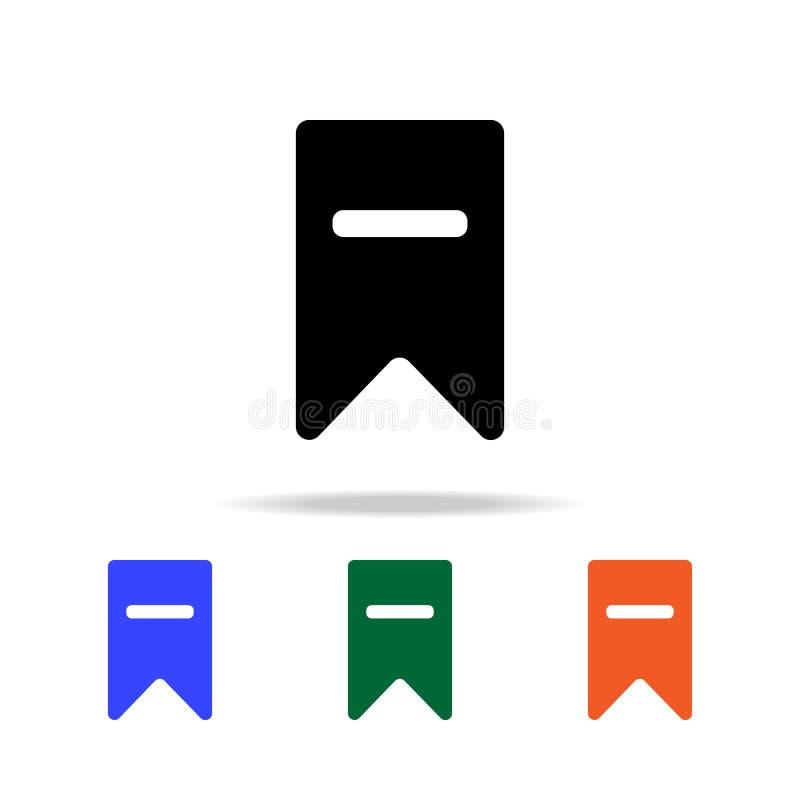 Löschungsbookmarkikone Elemente der einfachen Netzikone in der multi Farbe Erstklassige Qualitätsgrafikdesignikone Einfache Ikone vektor abbildung