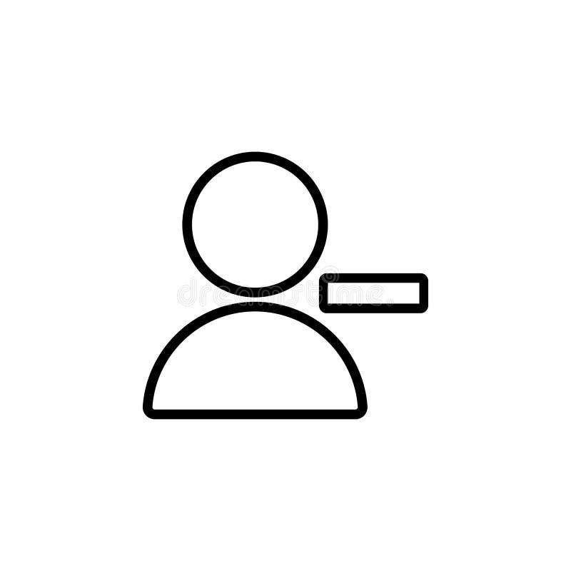 Löschungskontakt-Zeichenikone Element der einfachen Ikone für Website, Webdesign, bewegliche APP, Informationsgraphiken Starke Li lizenzfreie abbildung