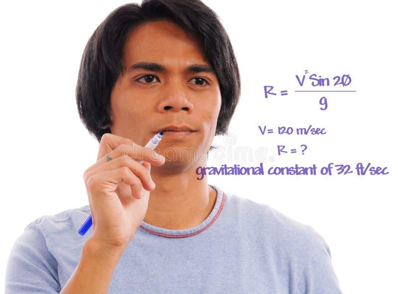 Lösen der Gleichung lizenzfreies stockfoto