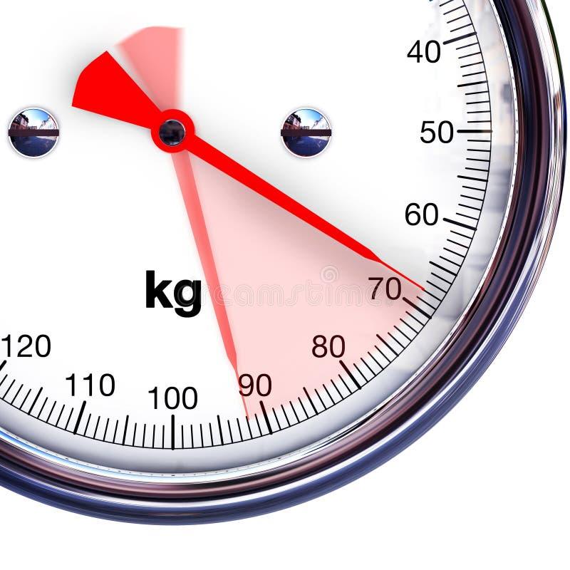 Lösen des Gewichts lizenzfreies stockbild