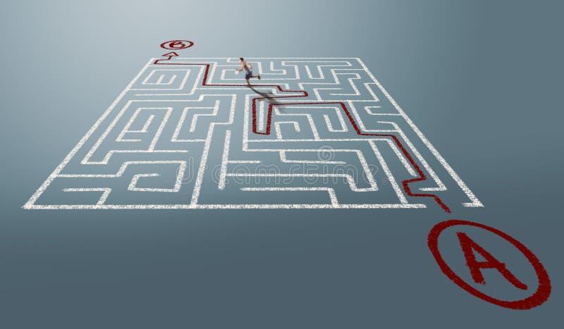 Lösen Sie das Labyrinth stock abbildung