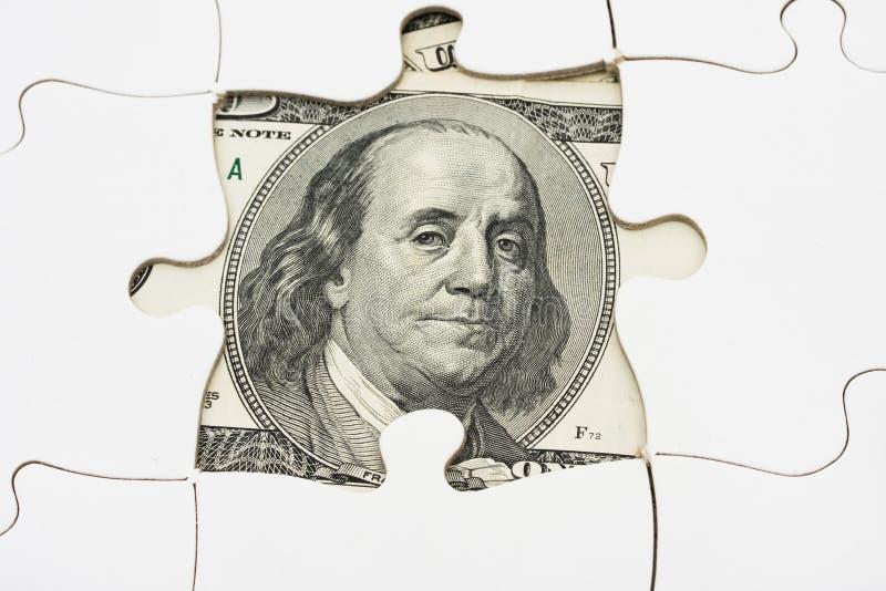 Lösen von Geld-Problemen lizenzfreie stockfotografie