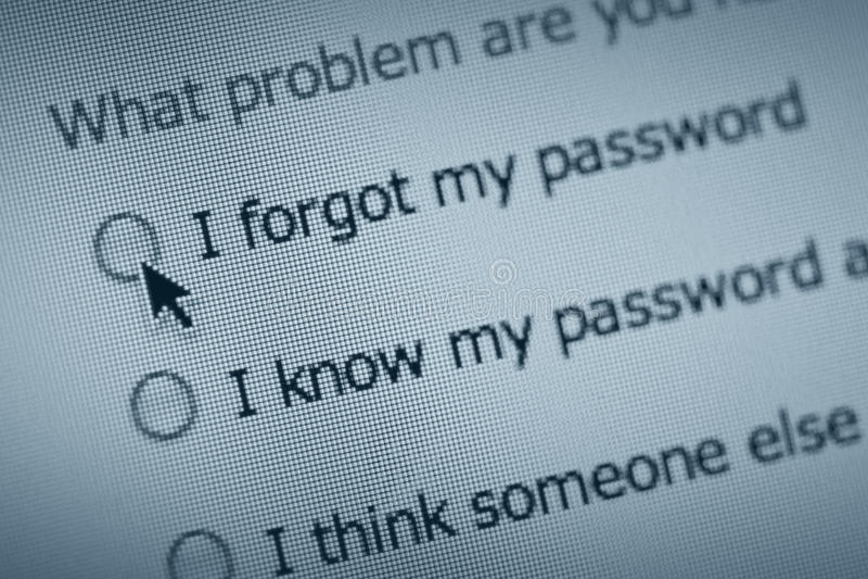 lösenordproblem royaltyfri fotografi