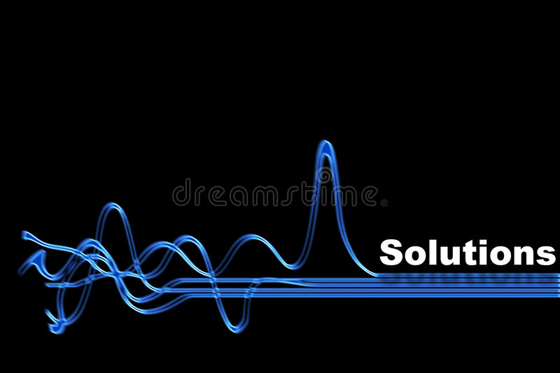 lösning stock illustrationer