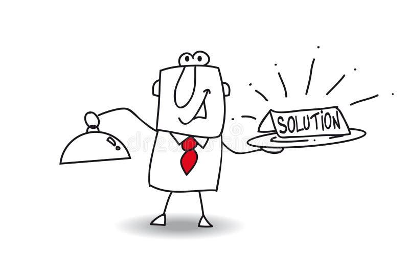 lösning vektor illustrationer