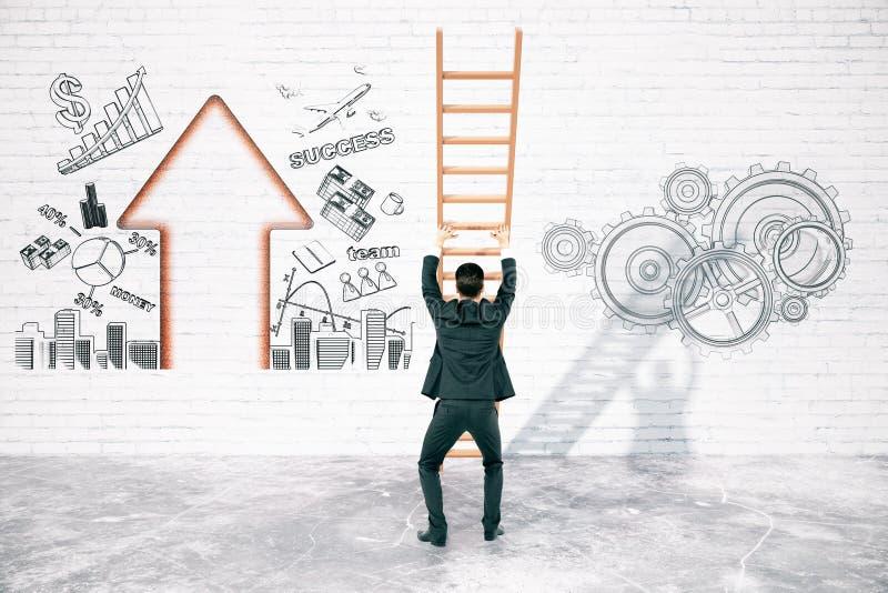 Lösning av affärssvårigheter vektor illustrationer