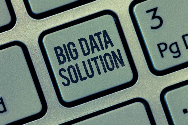 Lösning för data för ordhandstiltext stor Affärsidé för utdragning av värde från enorma volymer av en variation av fakta royaltyfria bilder