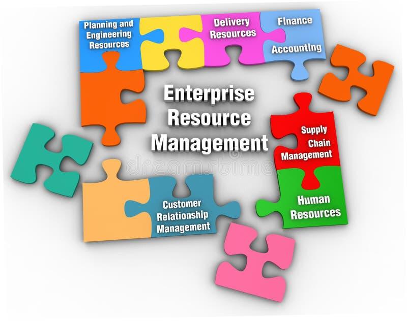 Lösning för ledning för ERM-företagresurs stock illustrationer