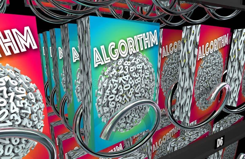 Lösning för problem för matematik för algoritmvaruautomatköp royaltyfri illustrationer