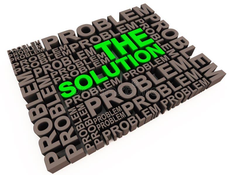 Lösning och problem royaltyfri illustrationer