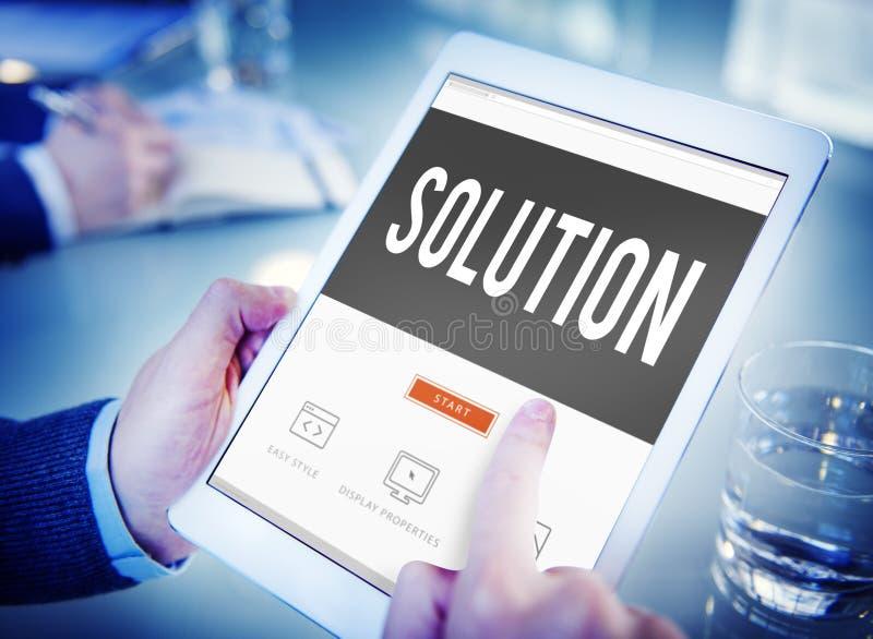 Lösning som löser begrepp för problembeslutstrategi royaltyfria bilder