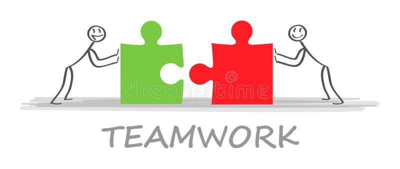 lösningar Affärslag och partner som tillsammans arbetar bakgrund Illustration för vektor för begreppsaffärsaffär vektor illustrationer