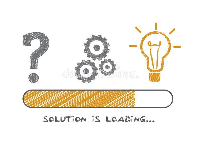 Lösningen laddar - vektorillustrationen stock illustrationer