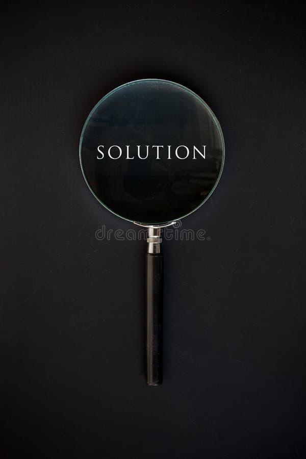 Lösningsord arkivfoton
