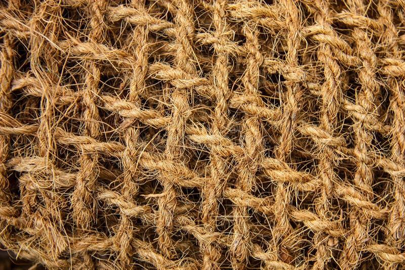Löst tyg av grov bakgrund för jutefibertappning arkivfoto