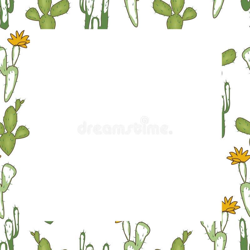 Löst västra tema den extra illustratören för ramen för Adobeeps-formatet inkluderar vektorn Kaktus buffelskalle, hästsko vektor illustrationer