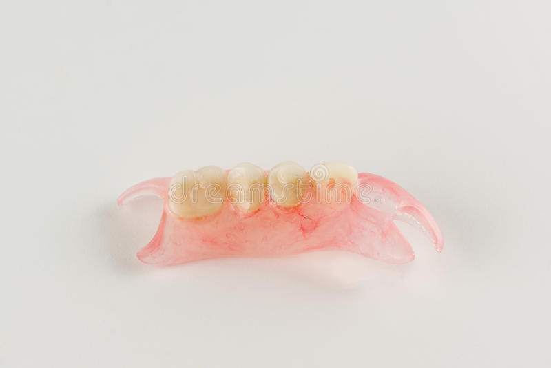 Löstagbara tandproteser för modernt nylon royaltyfri fotografi