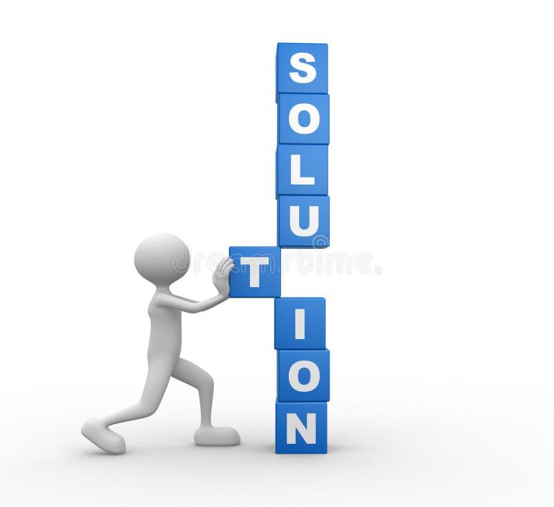 Lösung stock abbildung