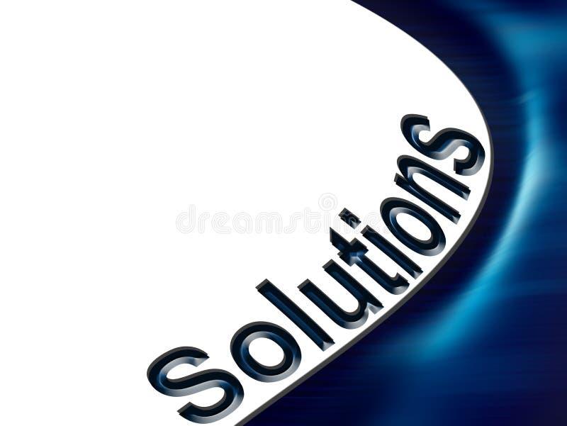 Lösungen stock abbildung