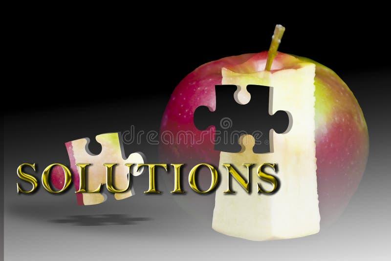 Lösungserfolgsmarketing Apple-Frucht vektor abbildung
