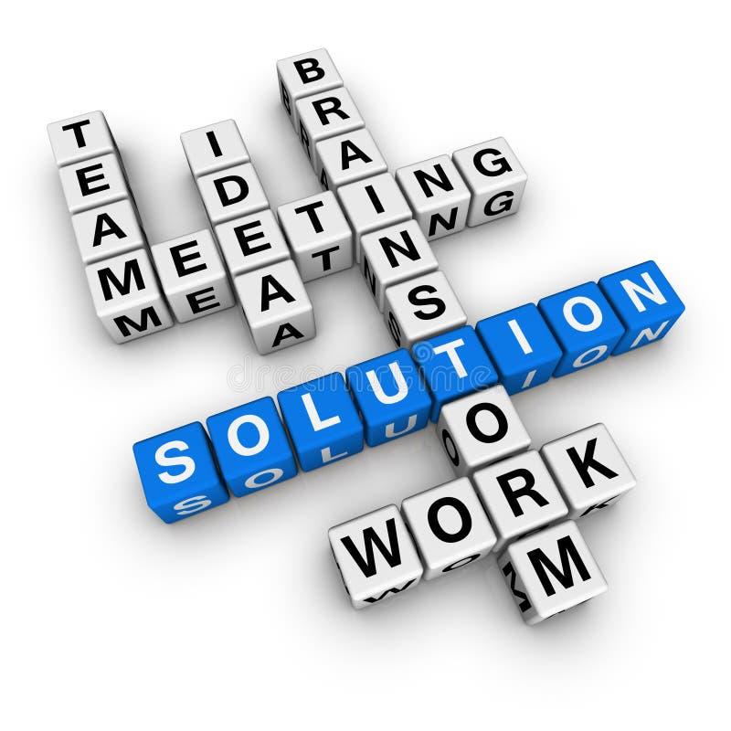 Lösungskreuzworträtsel lizenzfreie abbildung