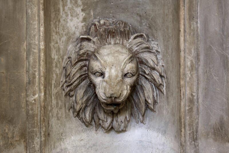 Löwe-Hauptbrunnen lizenzfreies stockbild