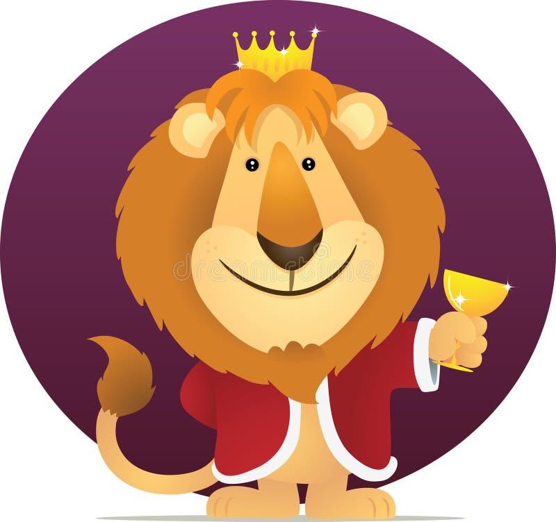 Löwe-König stock abbildung