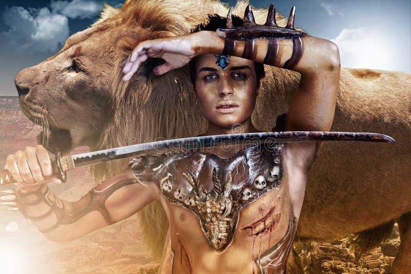 Löwe-König stockfoto