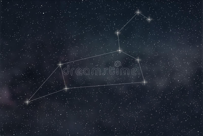 Löwe-Konstellation Sternzeichen-Löwe-Konstellationslinien vektor abbildung