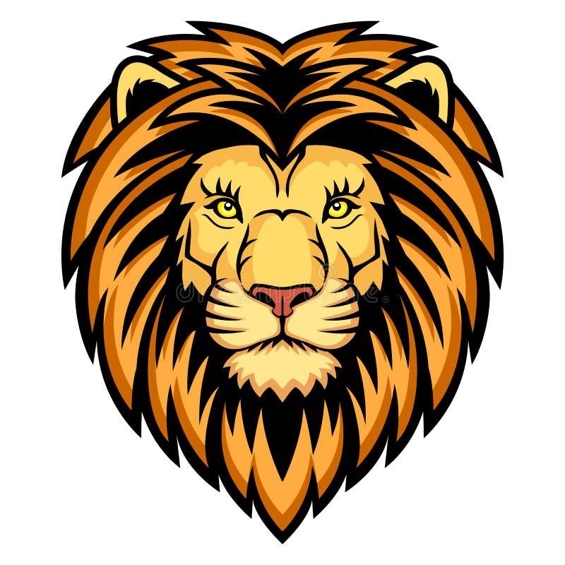 Löwe-Kopf lizenzfreie abbildung