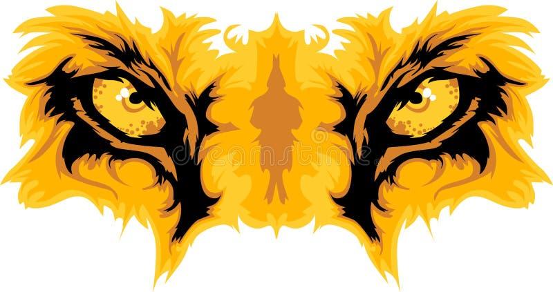 Löwe mustert Maskottchen-Grafik lizenzfreie abbildung