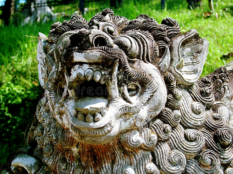 Download Löwe-Statue stockbild. Bild von idol, simulacrum, baumuster - 28517
