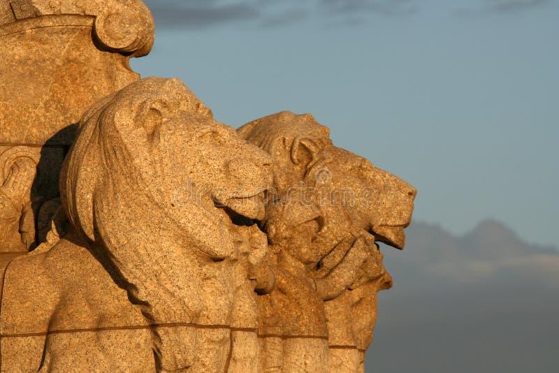 Löwe-Statue - königlicher Schrein, Melbourne, Australien lizenzfreies stockfoto